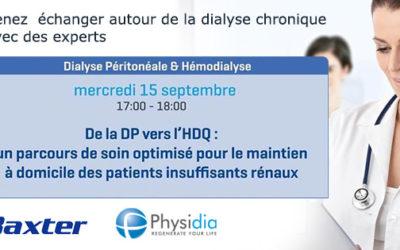 Physidia live webinaire de la dialyse péritonéale vers la dialyse à domicile